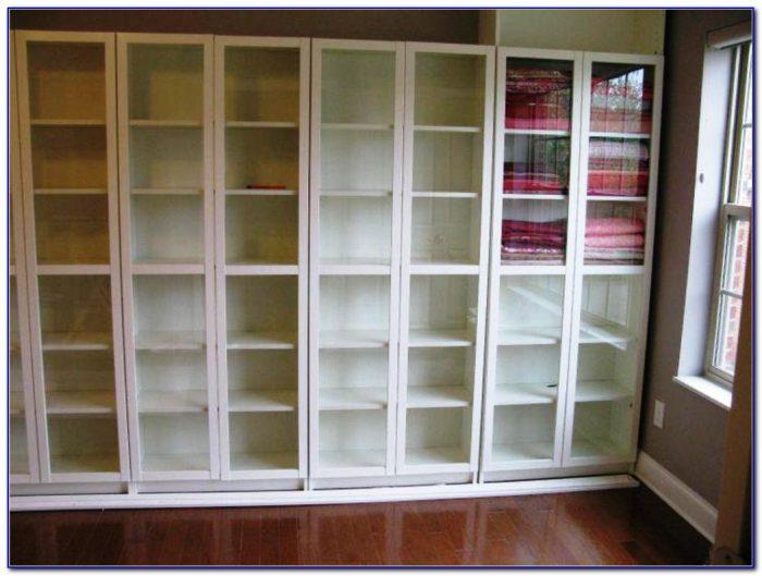Bookcase Headboard With Sliding Doors