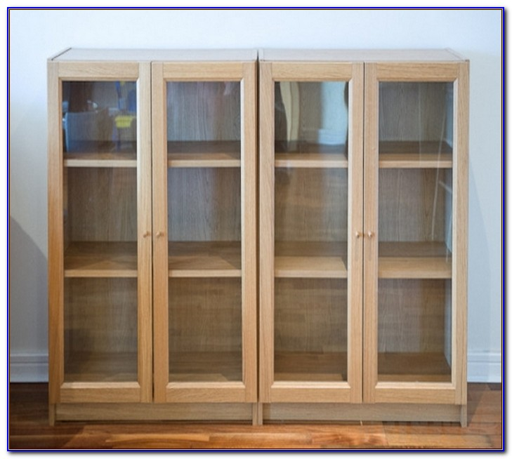 Ikea Hemnes Bookcase Glass Doors