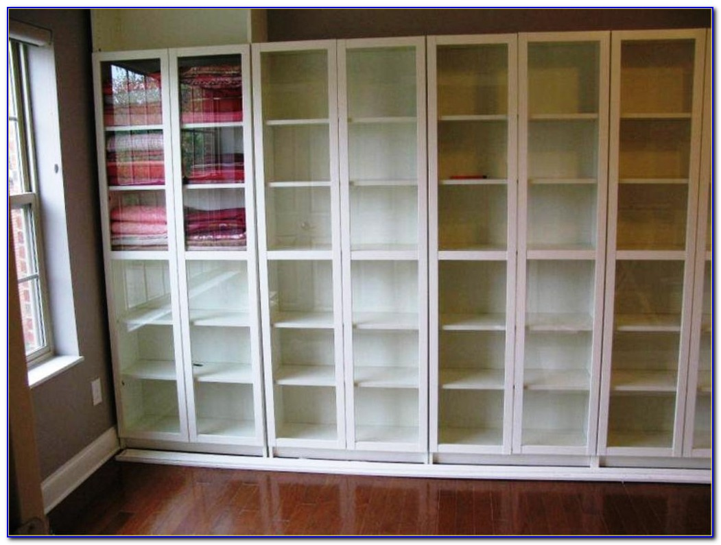 Ikea White Glass Bookcase