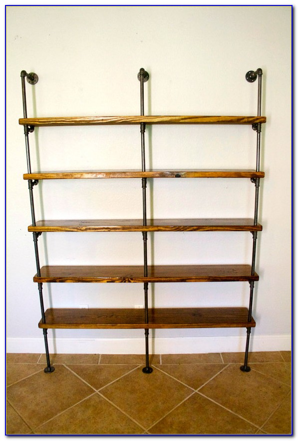 Industrial Pipe Bookcase Diy