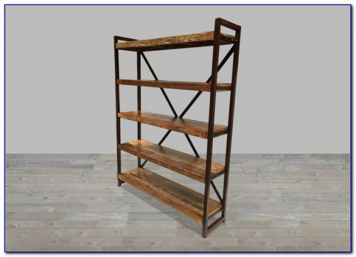 Iron And Mango Wood Bookcase