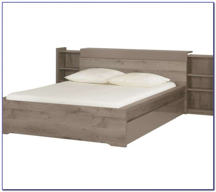 King Size Bed Bookcase Headboard