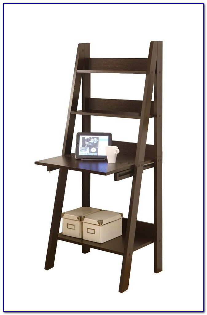 Ladder Bookcase With Drop Down Desk