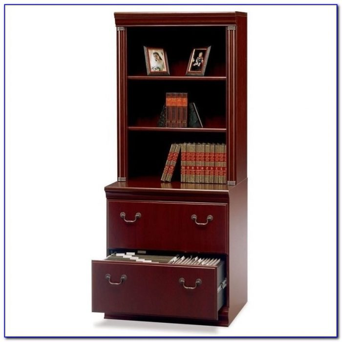 Lateral File Cabinet With Bookcase Hutch