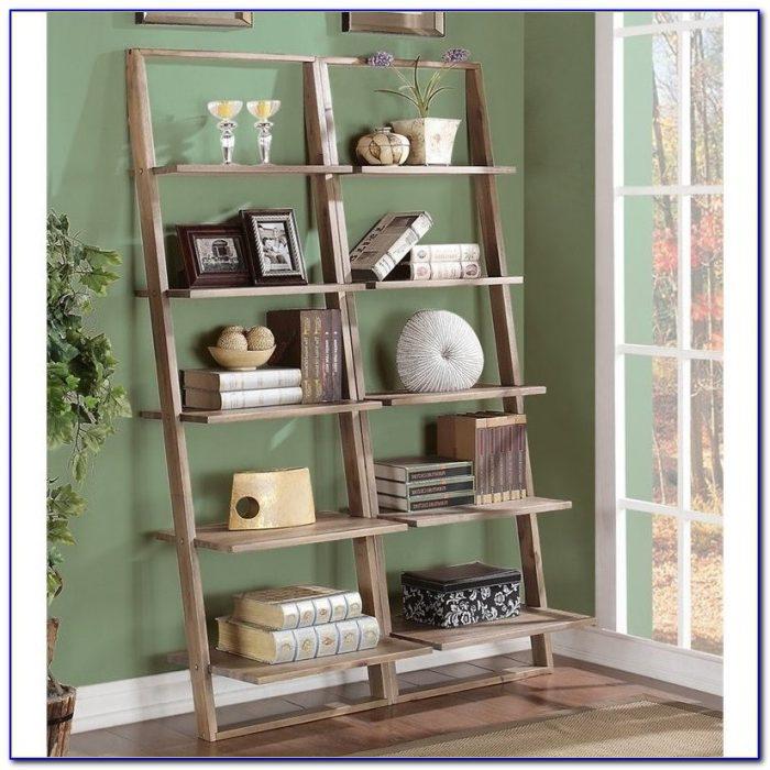 Leaning Desk Bookshelf