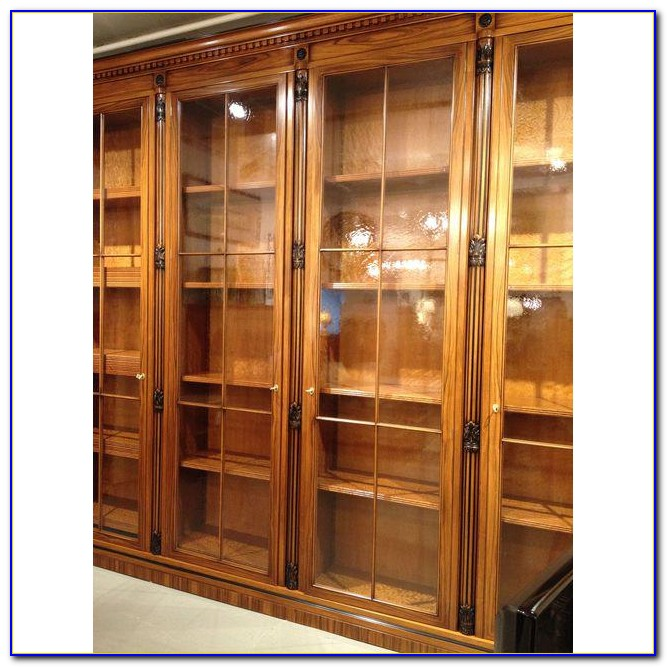 Library Bookcases With Glass Doors