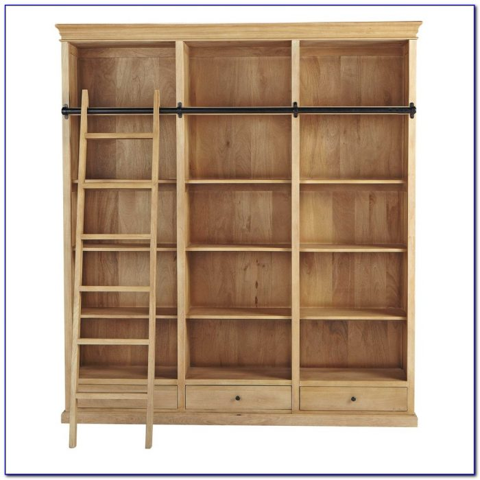Light Mango Wood Bookcase