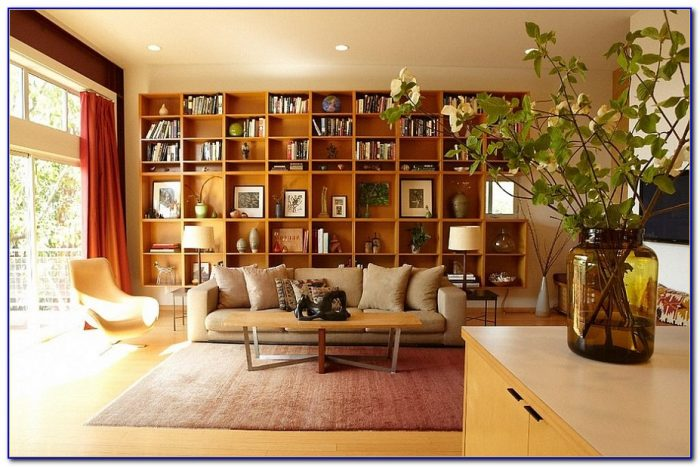 Living Room Bookshelves Design