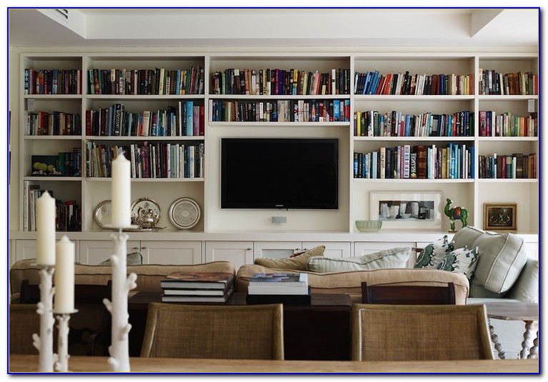 Living Room Wall Bookshelves