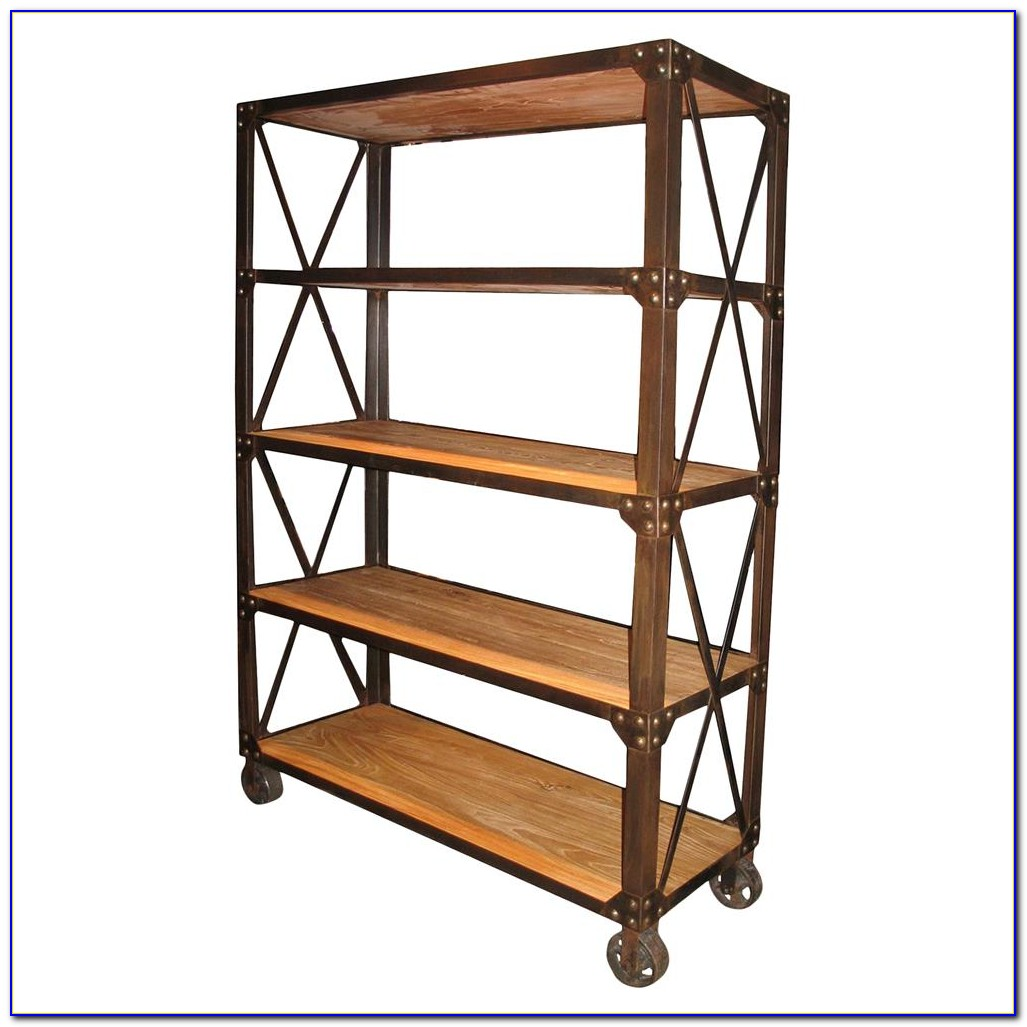 Metal Bookcases On Wheels