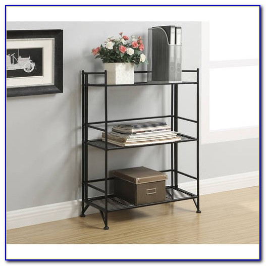 Metal Folding Bookcase