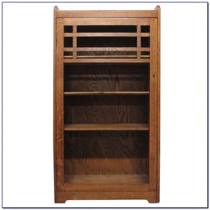 Mission Oak Bookcase Headboard