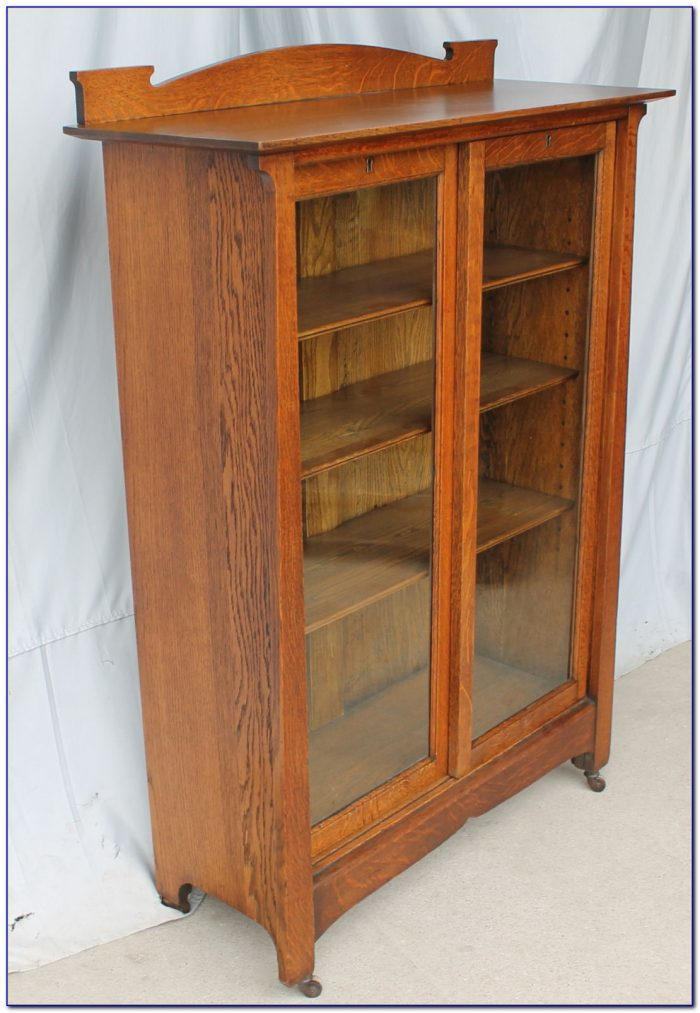 Mission Oak Open Bookcase