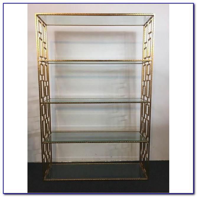 Modern Glass Metal Bookcase