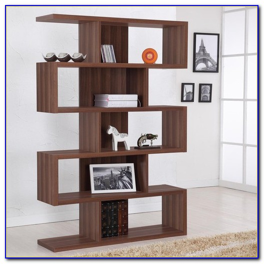 Modern Walnut Bookcase