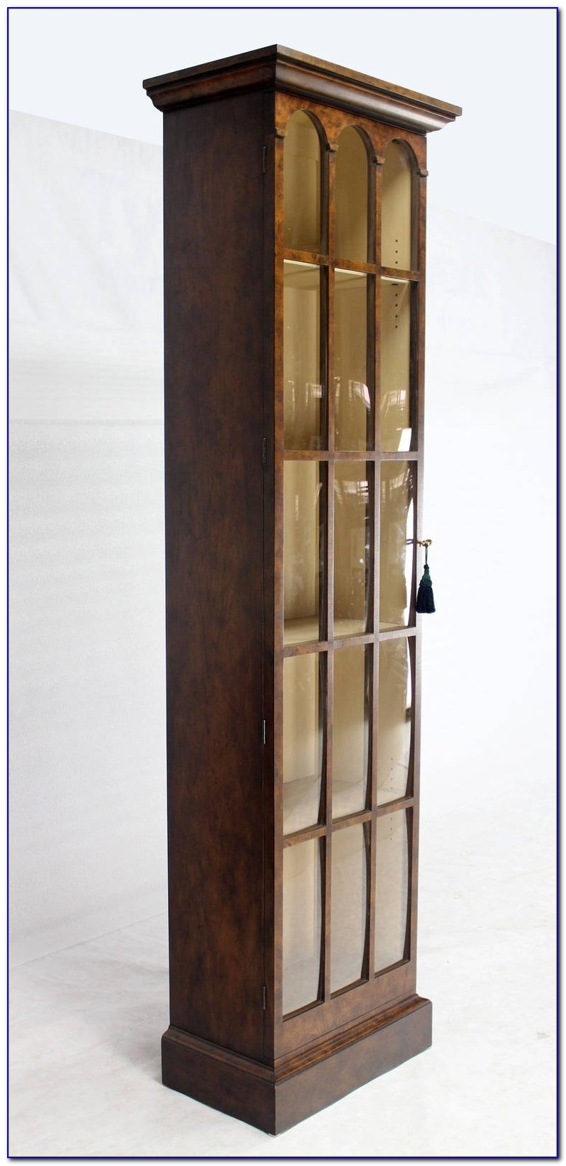 Narrow Depth White Bookcase