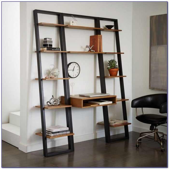 Narrow Ladder Shelf White