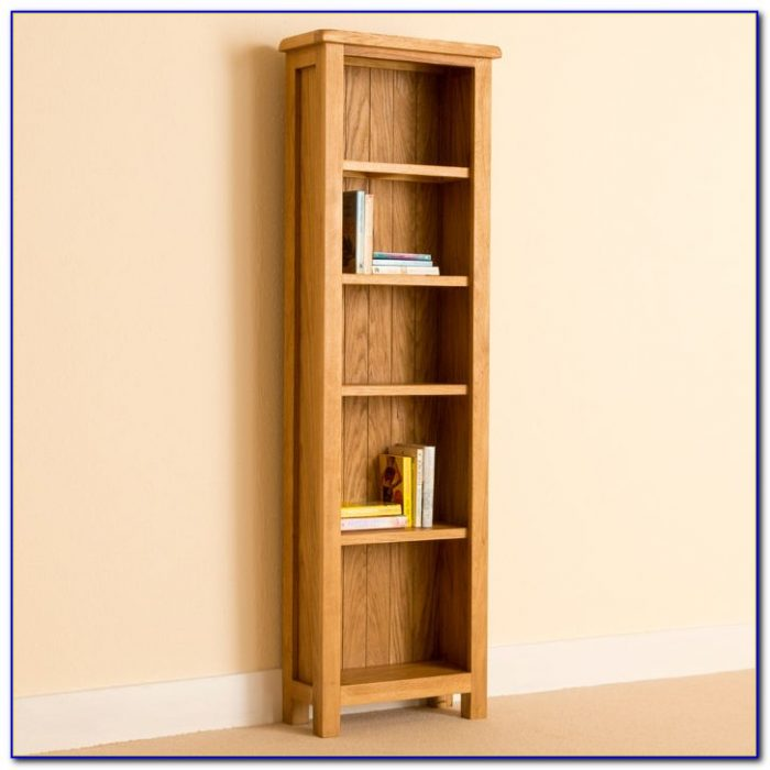 Narrow Solid Oak Bookcase