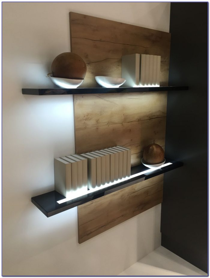 Oak Bookcase With Glass Shelves