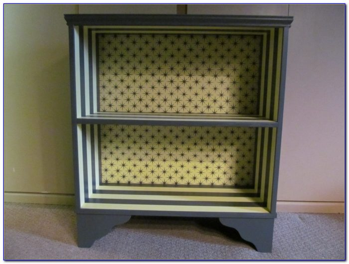 Particle Board Bookcase Makeover