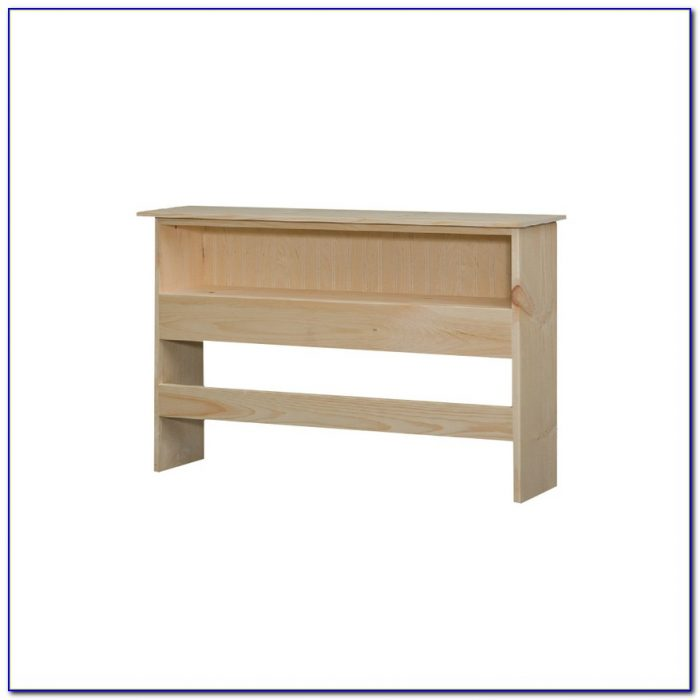 Queen Size Bookcase Headboard With Mirror