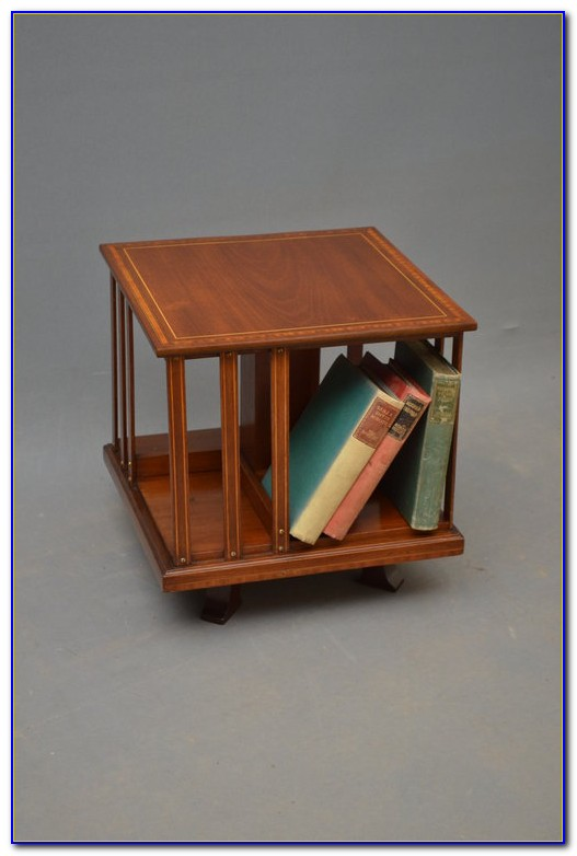 Revolving Bookcase Side Table