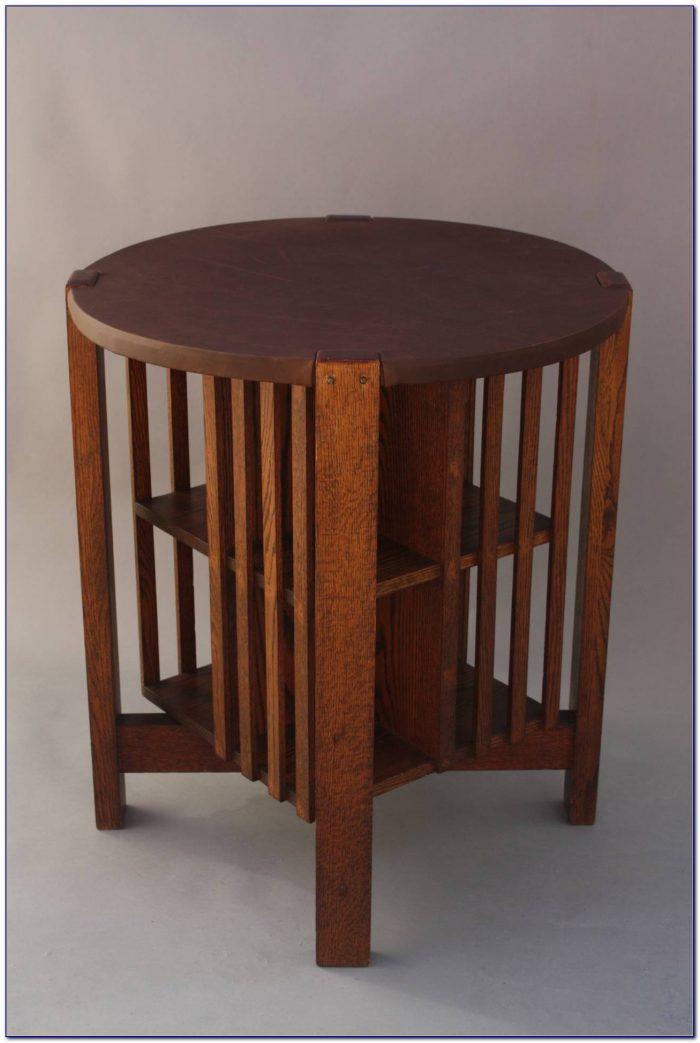 Revolving Bookcase Table