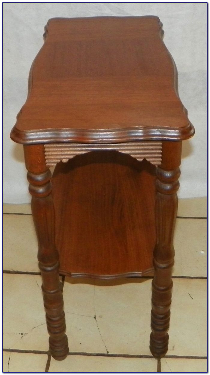 Revolving End Table Bookcase