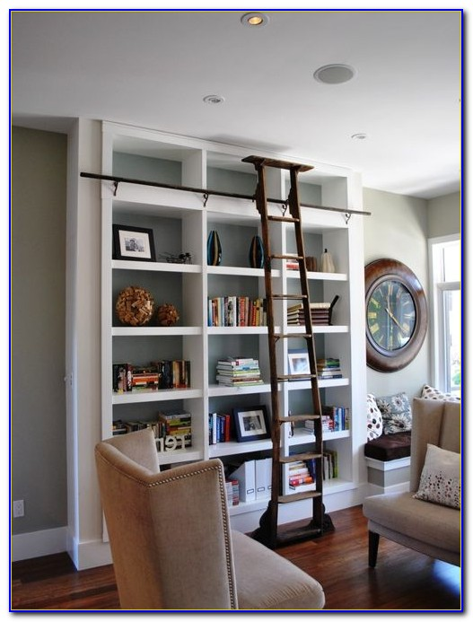 Rolling Ladder Shelves
