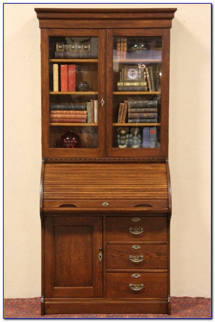 Secretary Desk With Bookcase Top