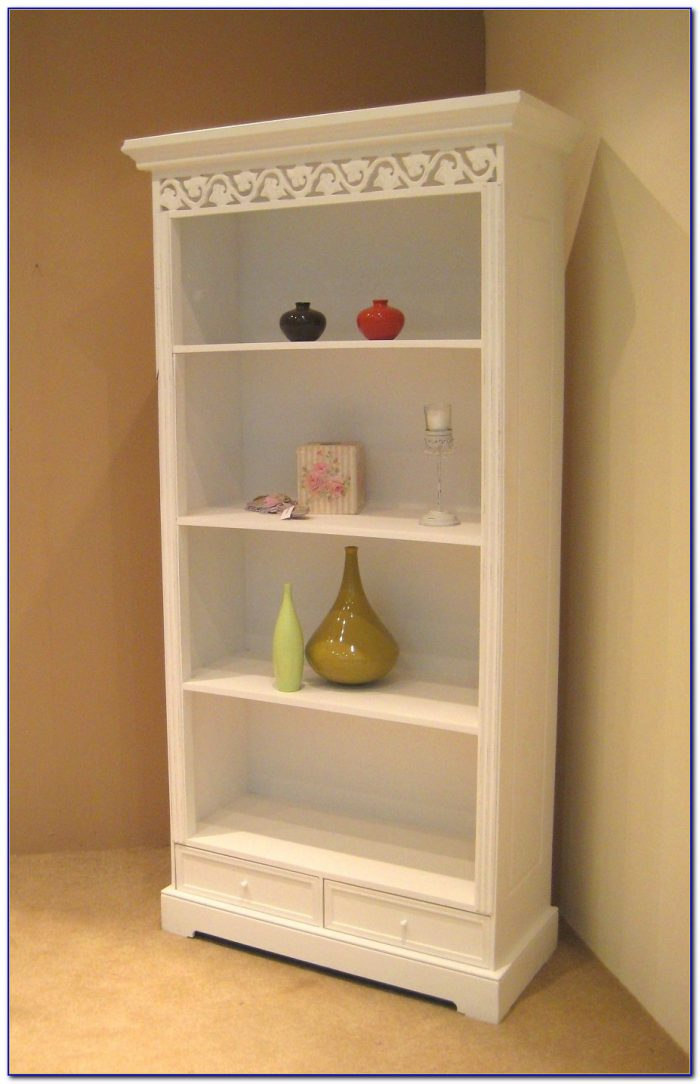 Shabby Chic Bookcase With Glass Doors