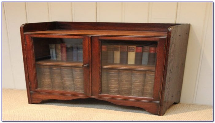 Short Bookcase With Doors