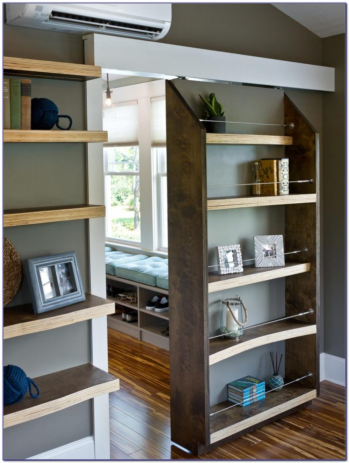 Sliding Bookcase Secret Door