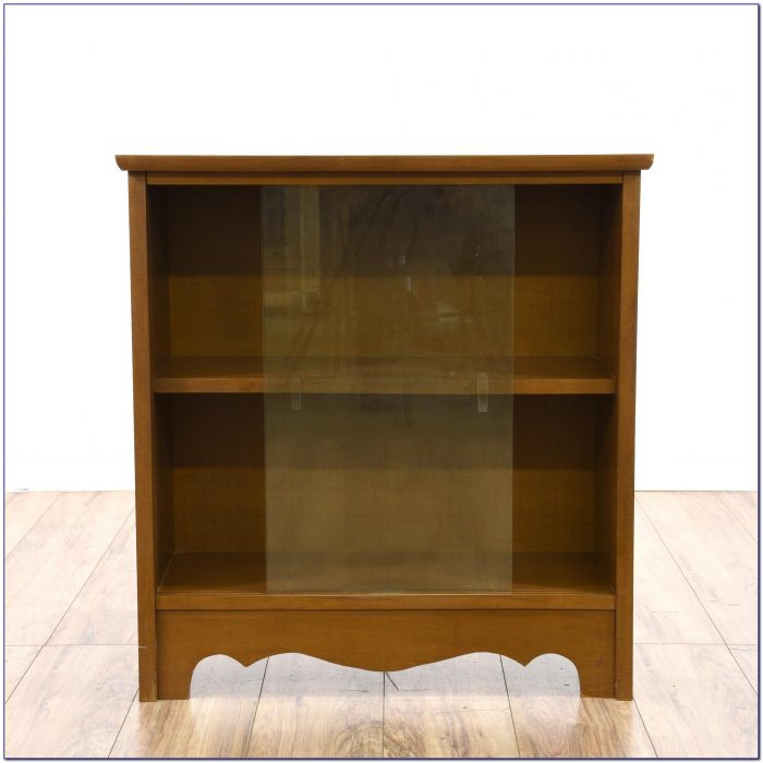 Small Bookcase With Sliding Glass Doors