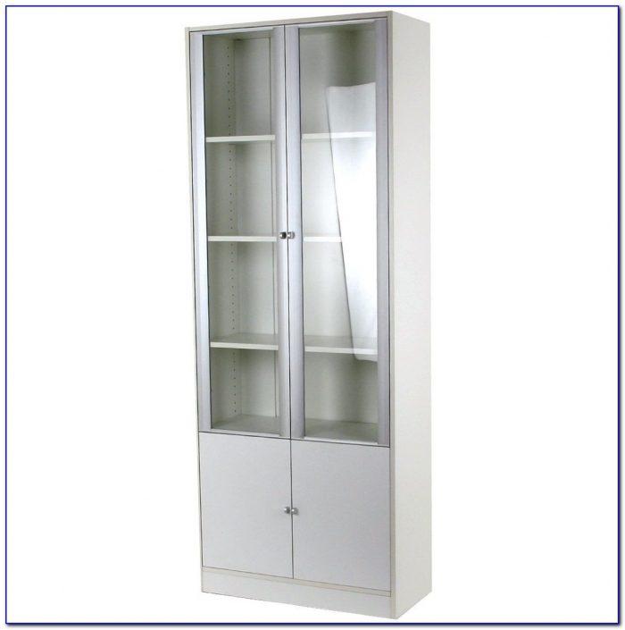 Small Bookshelf With Glass Doors