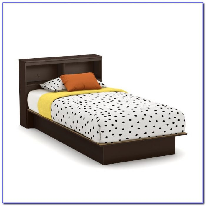 Solana Queen Platform Bed With Bookcase Headboard