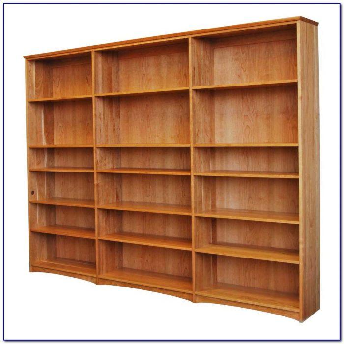 Solid Cherry Bookshelves
