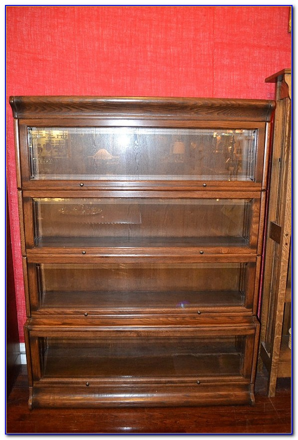 Solid Oak Barrister Bookcases