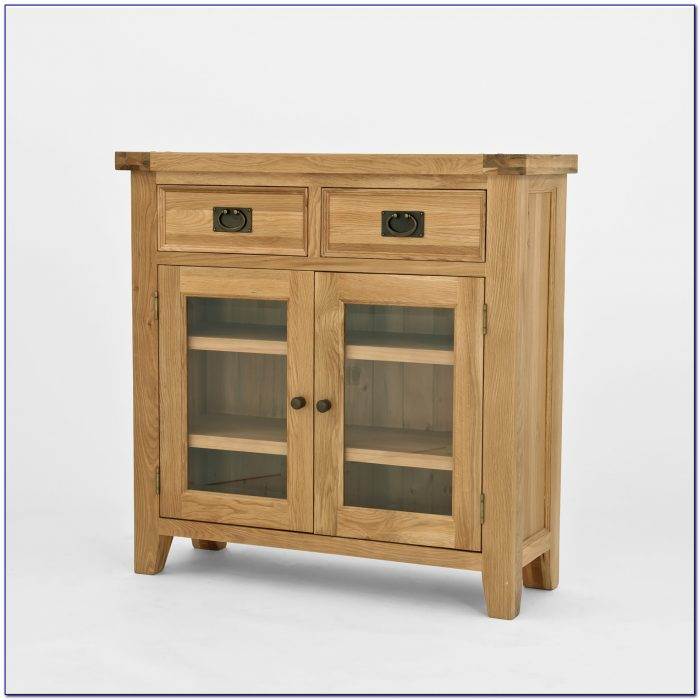 Solid Oak Bookcase With Doors