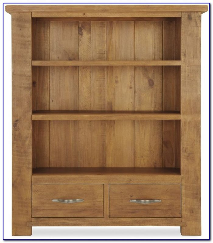 Solid Pine Bookcase With Doors