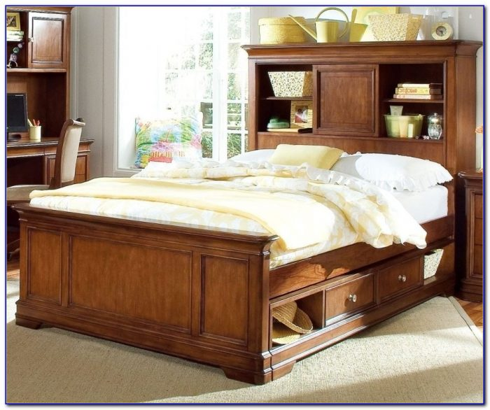 Storage Beds With Bookcase Headboards