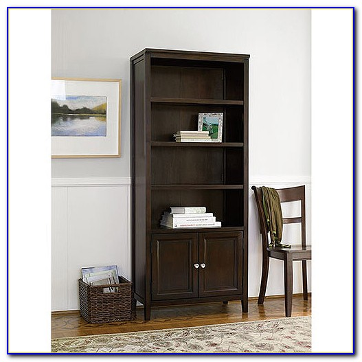 Tall Black Bookcases With Doors