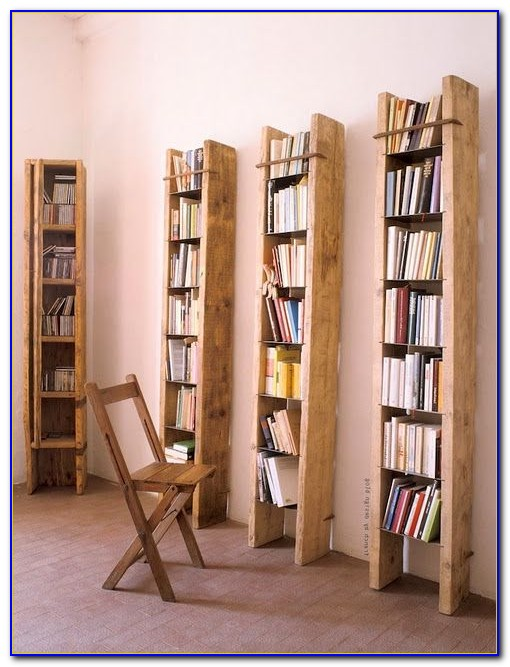 Tall Bookcase With Ladder