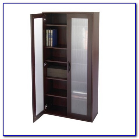 Tall Bookshelf With Glass Doors