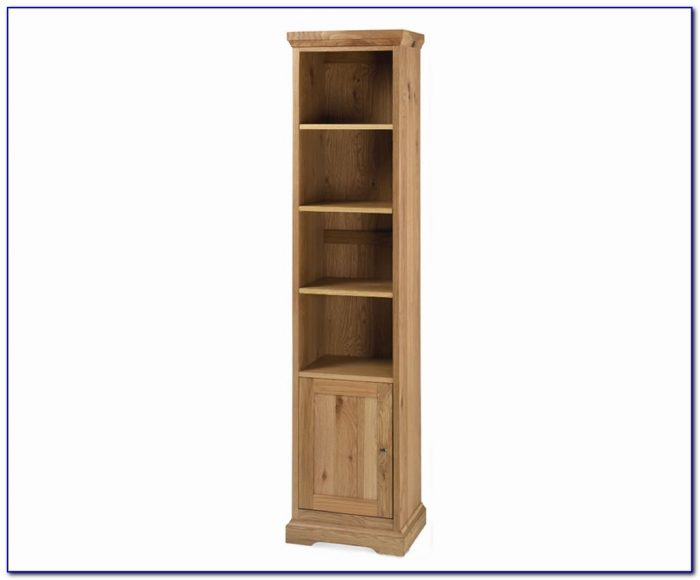 Tall Narrow Oak Bookcase