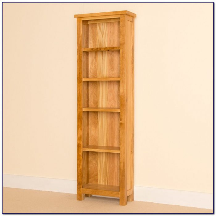 Tall Narrow Oak Bookcases