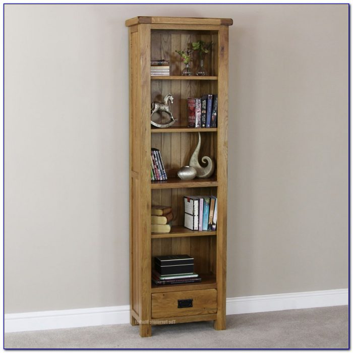 Tall Narrow Wood Bookcase