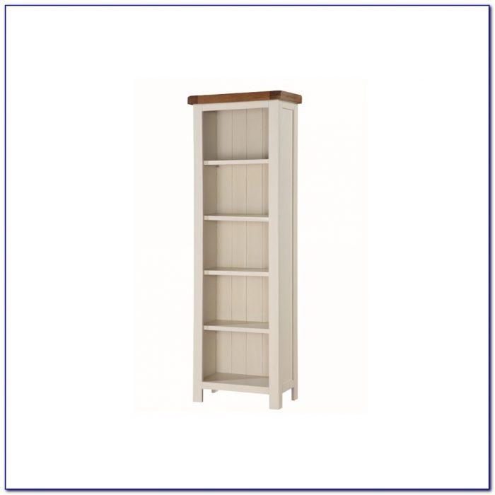 Tall Slim Bookcase Oak