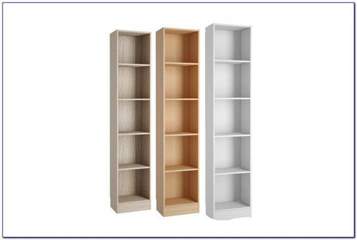 Tall Slim Bookcase White