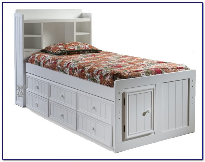 Trundle Bed With Bookcase Headboard
